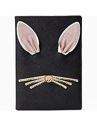 Kate Spade Hop To It Rabbit Leather Passport Holder, Black