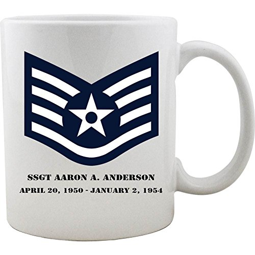 Customizable Air Force Staff Sergeant Rank Coffee ()