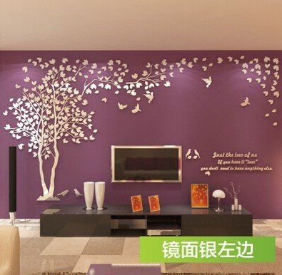 EasyBuy India 3D Big Tree Wall Murals For Living Room Bedroom Sofa Backdrop Tv Background