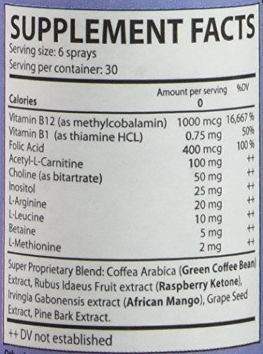 BE-THIN Lipotropics fortified with African mango, Green Coffee Bean, Raspberry ketone sublingual Spray -- by Legere Pharmaceuticals by Legere Pharmaceuticals (Image #2)