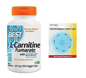 Mejor mejor L-carnitina fumarato del doctor de con Sigma Tau carnitina (855 Mg