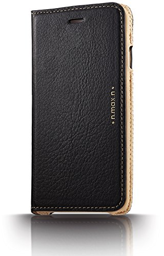 Series Slipcase (n.max.n Slipcase Series Genuine Leather Case for Apple iPhone 6 Plus & iPhone 6S Plus - Black)