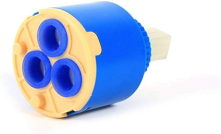 35//40 mm 4 types 1 pi/èce Supertool Cartouche en c/éramique bleu soupape de remplacement durable pour robinet de cuisine et de salle de bain