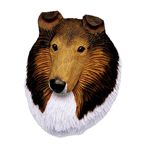 Sable Collie Figurine (Collie Head Plaque Figurine Sable Rough)