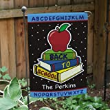 """Printed Back to School Double Sided Garden Flag, 12 1/2"""" w x 18"""" h, Polyester"""