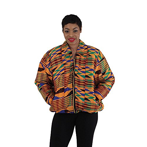 utopia africa African-Made Kente Jacket w/Elastic by utopia africa