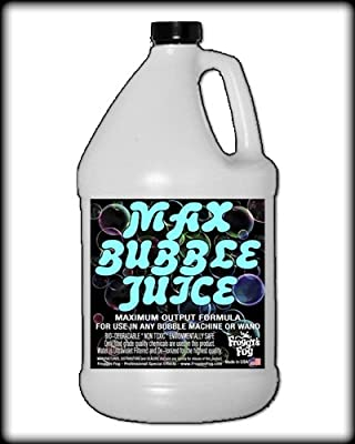1 Gallon - MAX Bubble Juice Fluid - 10x the Bubbles from Standard Machines by Froggys Fog