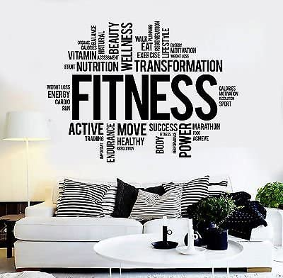 g2776 Details about  /Vinyl Wall Decal Take Care Of Body Motivation Health Healthy Stickers