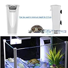 Aquarium Waterfall Filter Reptiles Turtle Filter, Low Level Water Clean Pump Internal Bio Media Water Filtration System for Fish Tank Amphibian Cichlids Frog Up to 55 Galloon (Waterfall Filter)