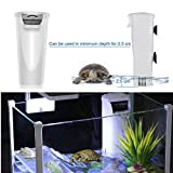 Aquarium Waterfall Filter Reptiles Turtle Filter for small tank 1-28 gallon, Low Level Water Clean Pump Internal Bio Media Water Filtration System for Fish Amphibian Cichlids Frog (Waterfall Filter)