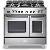 Verona VCLFSGE365DSS 36 Classic Dual Fuel Range Ovens European Convection 5 Sealed Gas Burners Stainless Steel
