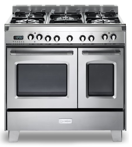 Verona VCLFSGE365DSS 36″ Classic Dual Fuel Range Double Oven Convection Sealed Burners Stainless Steel