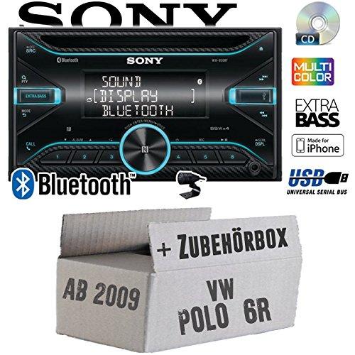 VW Polo 6R - Autoradio Radio Sony WX-920BT - 2DIN | Bluetooth | CD | USB | iPhone Einbauzubehö r - Einbauset JUST SOUND best choice for caraudio VWPo6R_WX-920BT