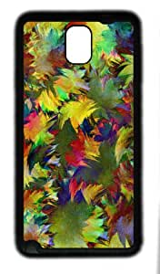 Maple Leaf painting as TPU Black Samsung Galaxy Note 3 Cases