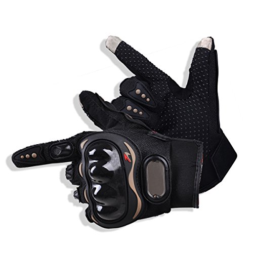 CHCYCLE motorcycle gloves touch screen summer motorbike powersports protective racing gloves (Large)