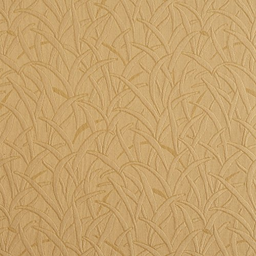 E585 Gold Grassy Meadow Jacquard Woven Contemporary Upholstery Grade Fabric by The Yard