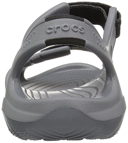 Crocs Mens Swiftwater Fiume Sandalo Carboncino / Nero