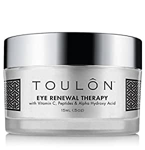 Eye Cream for Dark Circles, Puffiness and Wrinkles. Reduces Fine Lines & Dark Spots with Vitamin C, Peptides & Alpha Hydroxy Acid. Minimizes Crows Feet, Puffy Eyes and Bags