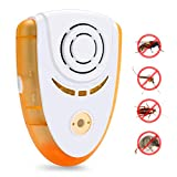 Ultrasonic Pest Control Electronic Plug In Pest Repeller Indoor Pest Repellent Effective for bug Insects cockroaches/Mouse/Flies/ants/spiders with Smart Night Light,No toxic,safe for Humans & pets