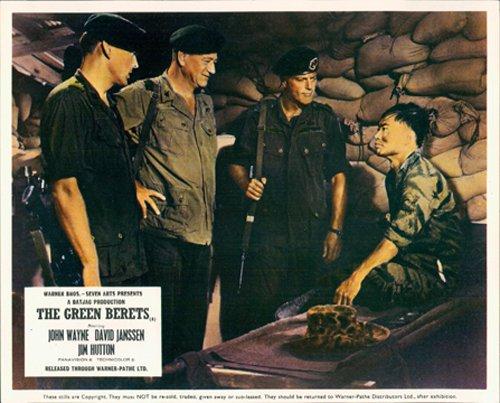 THE GREEN BERETS JOHN WAYNE GEORGE TAKEI LOBBY CARD from Silverscreen