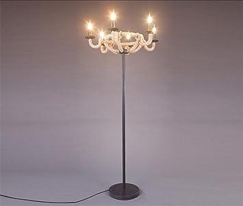 Lámparas de pie Hogar Moderno de la Cuerda Marina ...