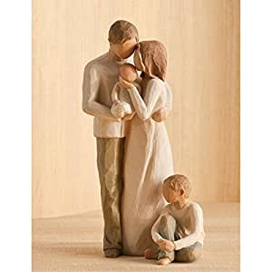 Amazon Com Willow Tree Mother Amp Father With Baby Amp Son By