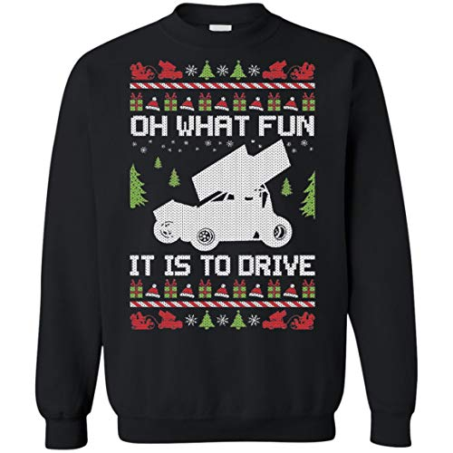 Ugly Sweatshirt Christmas Car Racer