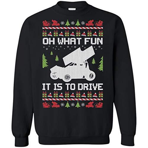 Ugly Sweatshirt Christmas Car Racer