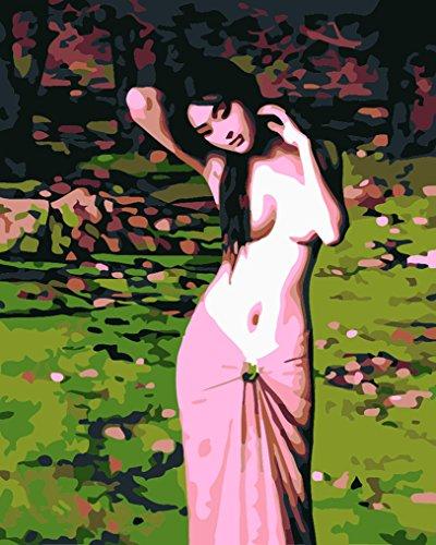 LoveTheFamily 数字油絵 数字キット塗り絵 手塗り DIY絵 デジタル油絵 裸の女 30x40cm ホーム オフィス装飾の商品画像