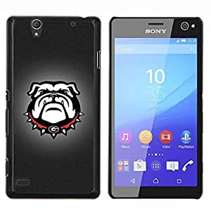Eason Shop / Premium SLIM PC / Aliminium Casa Carcasa Funda Case Bandera Cover - G Bulldog Inglés Bulldog Dog - For Sony Xperia C4