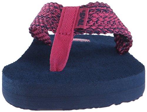 Teva Womens Mush Ii Flip-flop Tiki Navy / Raspberry