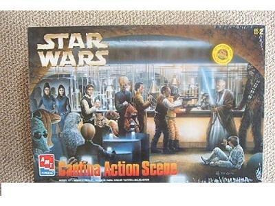 - AMT Ertl Star Wars Cantina Action Scene Model Kit 8205