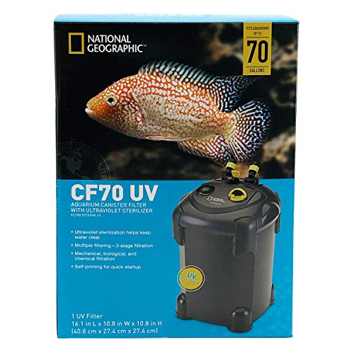 (National Geographic CF70 UV Aquarium Canister Filter with Ultraviolet Sterilizer)