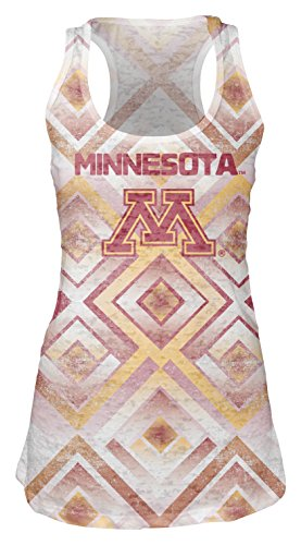 - NCAA Minnesota Golden Gophers Women's Sublimated Burnout Tank Top, Small, White