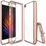 Xiaomi Mi 5 Case, Ringke [FUSION] Crystal Clear PC Back TPU Bumper [Drop Protection/Shock Absorption Technology][Attached Dust Cap] For Xaomi MI 5 - Rose Gold Crystal