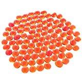 D DOLITY 100 Pieces of 17-20mm Glass Marbles, Kids Traditional Ball Game Toy Vase and Fish Tank Decoration Orange