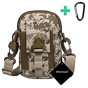 xhorizon(TM)XH8 Universal Army Phone Pouch Accessory Bag Case For iPhone 6/6s 6plus Samsung Galaxy S6 S5 S4 HTC Sony Nokia Nexus Elephone Mobile Phone Belt Pouch With Flag Tactical
