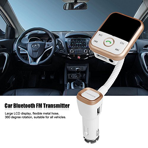 FM Transmitter Bluetooth 4.0 Car Kit Audio Stereo Radio Modulator Hands-Free Calling LCD Display 2.1A USB Car Charger with Remote Control