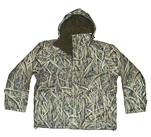 Wildfowler Men's Outfitter Grass Blades Waterproof Insulated Parka, Mossy Oak Shadow, X-Large