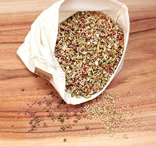 NECTARBAR Eco Bolsa DE Leche Vegetal - Algodón Natural Raw Food Filter Bag - Filtro para Leche de nueces, DE almendras, fermenter Queso Vegano, para Zumo, ...