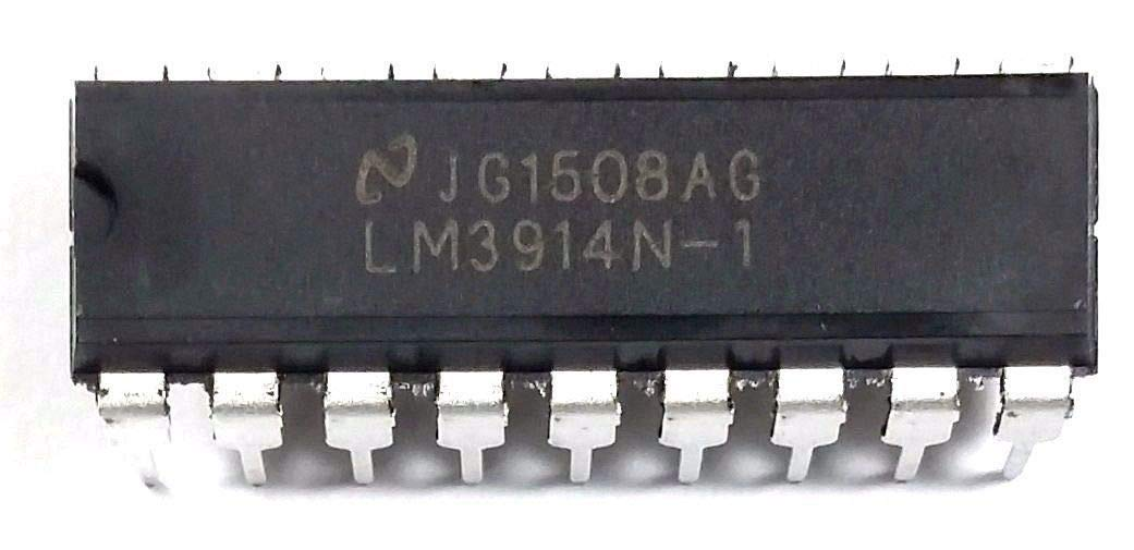 National Semiconductor LM3914N-1 LM3914 Dot Bar-Graph Display Driver with Built-in Regulated and Programmable LED Current Drive eliminating The Need for resistors DIP-18 DIP18 (Pack of 40)