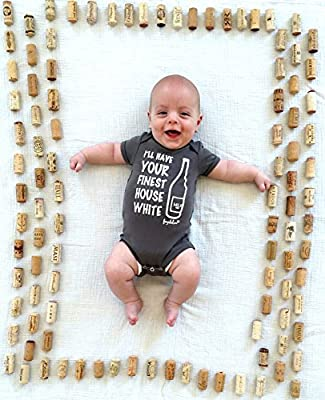 "Fayebeline Boutique Baby Gift Onesie ""I'll Have Your Finest House White"""