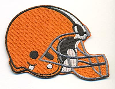 Cleveland Browns Helmet Logo Football NFL Embroidered Iron On Patches Hat Jersey