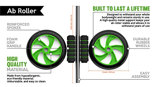 KING ATHLETIC Ab Roller Wheel :: Abs Carver for Abdominal & Stomach Exercise Training :: Because You Need The Best Fitness Core Shredder :: Your New Ab Trainer Includes Two Instructional eBooks