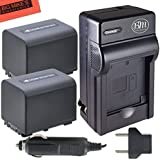 Sony DCR-SR68 DCR-SR88 Handycam Camcorder Battery & Battery Charger Kit Includes Qty 2 NP-FV70 Batteries + AC/DC Battery Charger