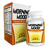 Morning-Mood: Ultimate A.M. Mood Prep (Natural Mood Enhancer / Booster / Vitamins / Supplements) 60 Vegetable Caps