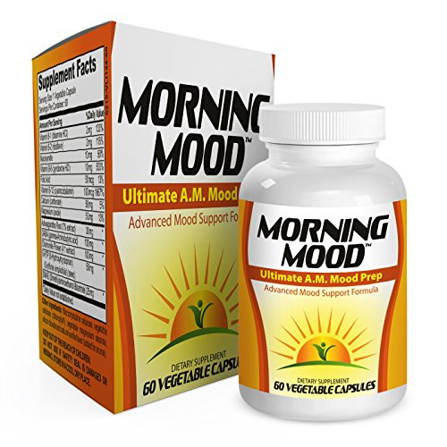 Morning Mood Support Supplement Booster Pills - Vitamins - Natural Mood Health Supplements - Complex - Formula - 60 Capsules