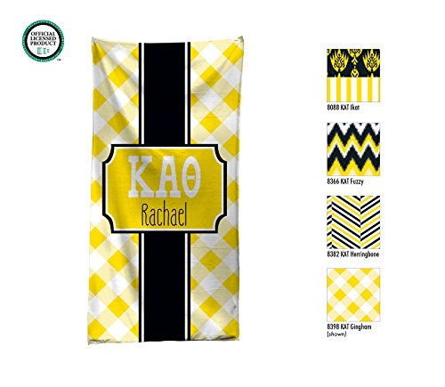 Kappa Alpha Theta Personalized Beach Towel / Pool Towel / Personalized Beach Towel / Monogrammed Beach Towel / KAO Big Little / Rush Gift - Kappa Alpha Theta Lilly Pulitzer