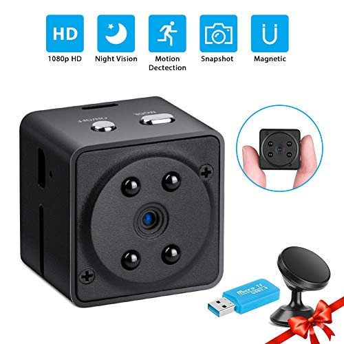 Hidden Camera, Mini Hidden Camera 1080P – Night Version Security Camera Wireless – 4 Modes Baby Camera – Portable Cop Camera – Surveillance Camera for Home Security – Nanny Cam