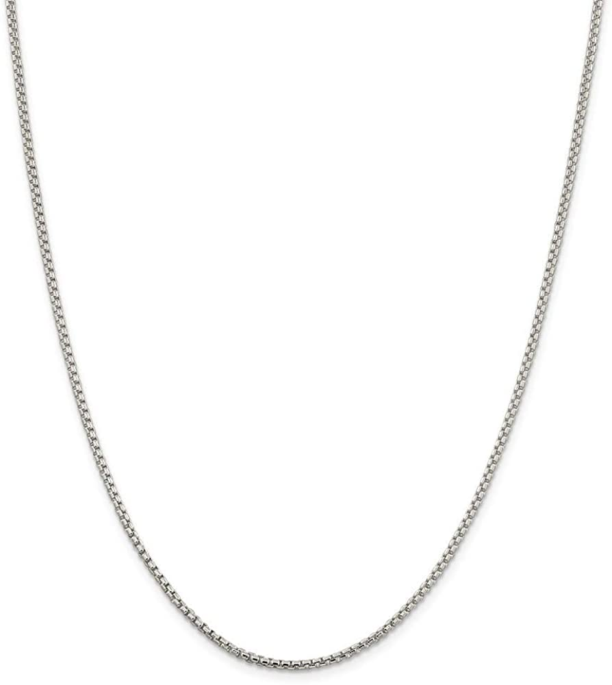 925 Sterling Silver Half Round Box Chain Necklace in Silver Choice of Lengths 16 18 20 24 30 and 1.25mm 1.5mm 1.75mm 1mm 2mm